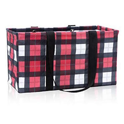 Brand new Thirty one Large utility beach laundry tote bag 31 gift Check Mate