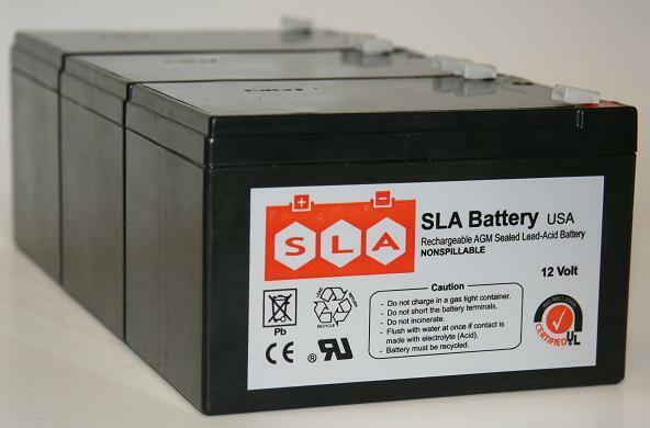 (3 Pack) - 12V 12Ah F2 Razor Battery fits MX500 & MX650, W15128190003