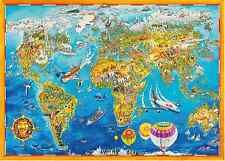 World map 1000 piece jigsaw puzzle 70 x 50 cms xmas gift ebay 1000 piece comic collection jigsaw puzzle world map 05135 gumiabroncs Images