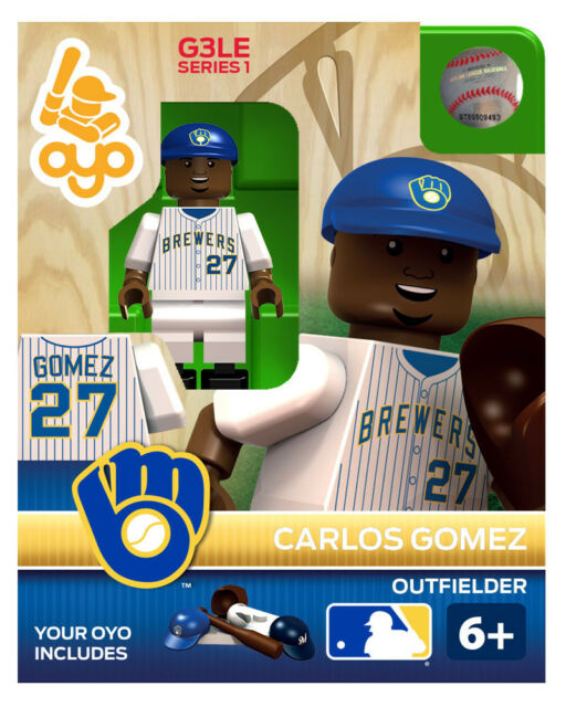 Carlos Gomez OYO Milwaukee Brewers Mini Figure NEW G3 Dark Blue