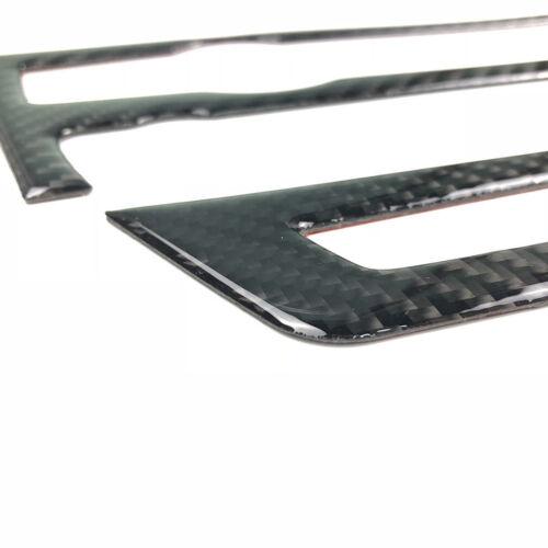 2x Carbon Fiber Control Panel Interior Trim For BMW e70 e71 X5 X6 2008-2013