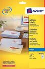 Avery J8160-25 A4 Sheet Address Labels for Inkjet Printers White 25 Sheets Easy