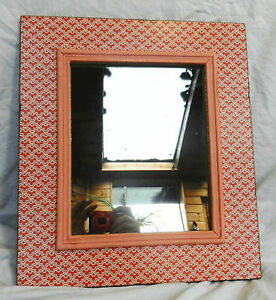 Large Wood Framed Wall Mirror - Pink - Large Size - BNWT | eBay