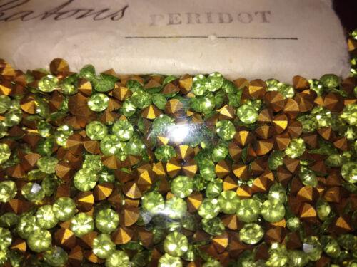 Strasssteine Glitzersteine Optima Machine Chatons Peridot grün SS14,5  3,6mm#260