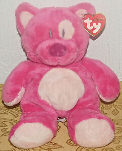 TY-Classic-Kitty-Cat-BLUESY-Hot-Pink-Plush-Stuffed-Floppy-TOY-Lovey-New-Tags