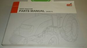s l300 kioti tractor parts manual dk651c ebay