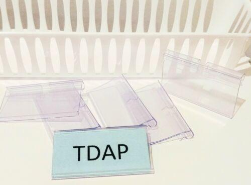 "/& 16 Label Sign Holders 9.5x5.5/"" New Bundle 8 Storage Baskets"