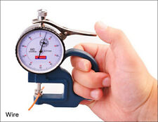 0-10mm Dial thickness Gauge leather cloth paper film Thickness meter 0.01 (Blue)