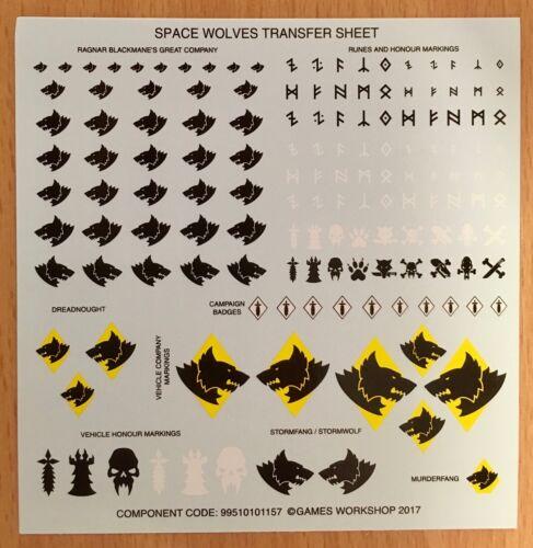 Space Wolves Transfer Sheet