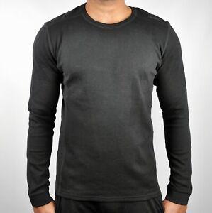 Calvin-Klein-Premium-CK-Solid-Crew-Neck-Military-Style-Sweatshirt-Jumper