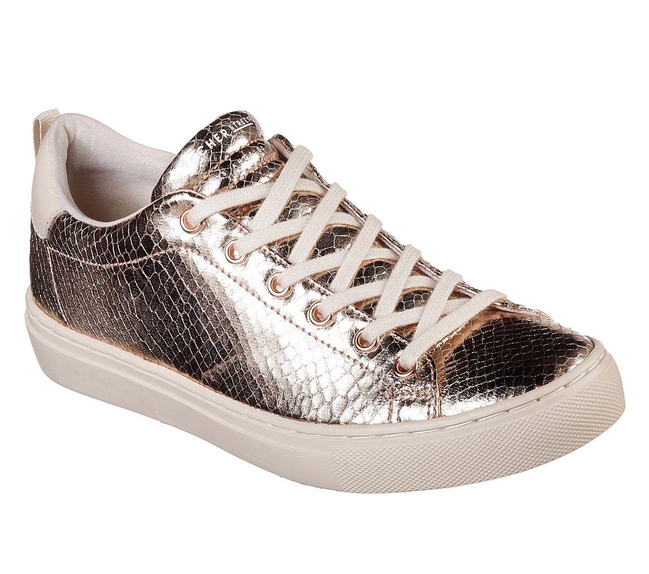 73556 Rose Gold Skechers Foam Shoe Street Women Memory Foam Skechers Darma Knit Bungee Sneaker 97d8a6