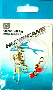 South Bend Hurricane Fishing Halibut Drift Rig size 1/0 Stainless Hook (HDR-1/0)