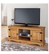 Alta qualità in rovere massello grande tv plasma 2 Porte Armadietto PORTAOGGETTI SCAFFALE
