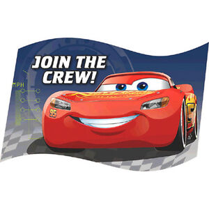 Image Is Loading CARS 3 INVITATIONS 8 Birthday Party Supplies Invites