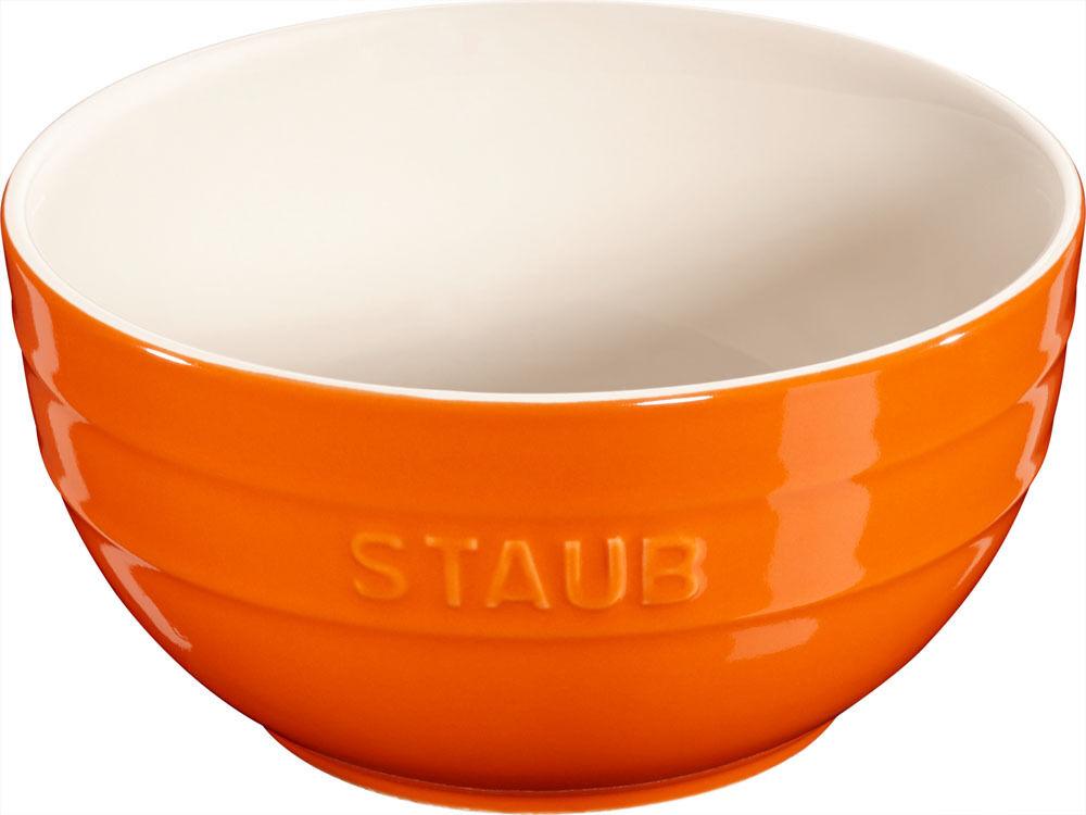 STAUB céramique 6 Ensemble COQUILLE BOL desertschale, grand Orange 17 cm