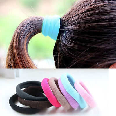 Colorful Girl Elastic Hair Tie Band Rope Ring Scrunchie Ponytail Holder