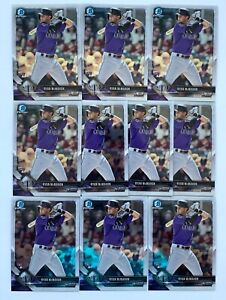 (10) 2018 Bowman Chrome RYAN McMAHON Rookie #36 Colorado Rockies RC Card LOT