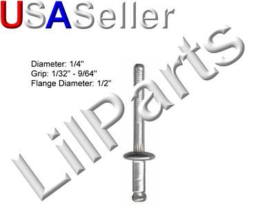 50 Window Regulator Peel-Type Rivets GM 9436175 Ford 385189-S100 Chrys 6031115