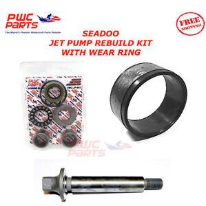 SEADOO Jet Pump Rebuild Kit Wear Anello Impeller Shaft 2003-2005 GTI LE RFI