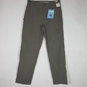 bb9bc58c NEW Wrangler All Terrain Utility Pants Mens Khaki Flat Front Comfort ...