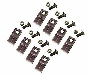 8 - Square Hole Replacement Auger Teeth w/ Hardware - SQ58-58PB , AT-5