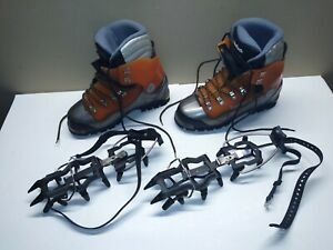 Koflach-Degre-Arctic-System-Ice-Climbing-Boots-Men-039-s-Size-11-US-w-BD-Crampons