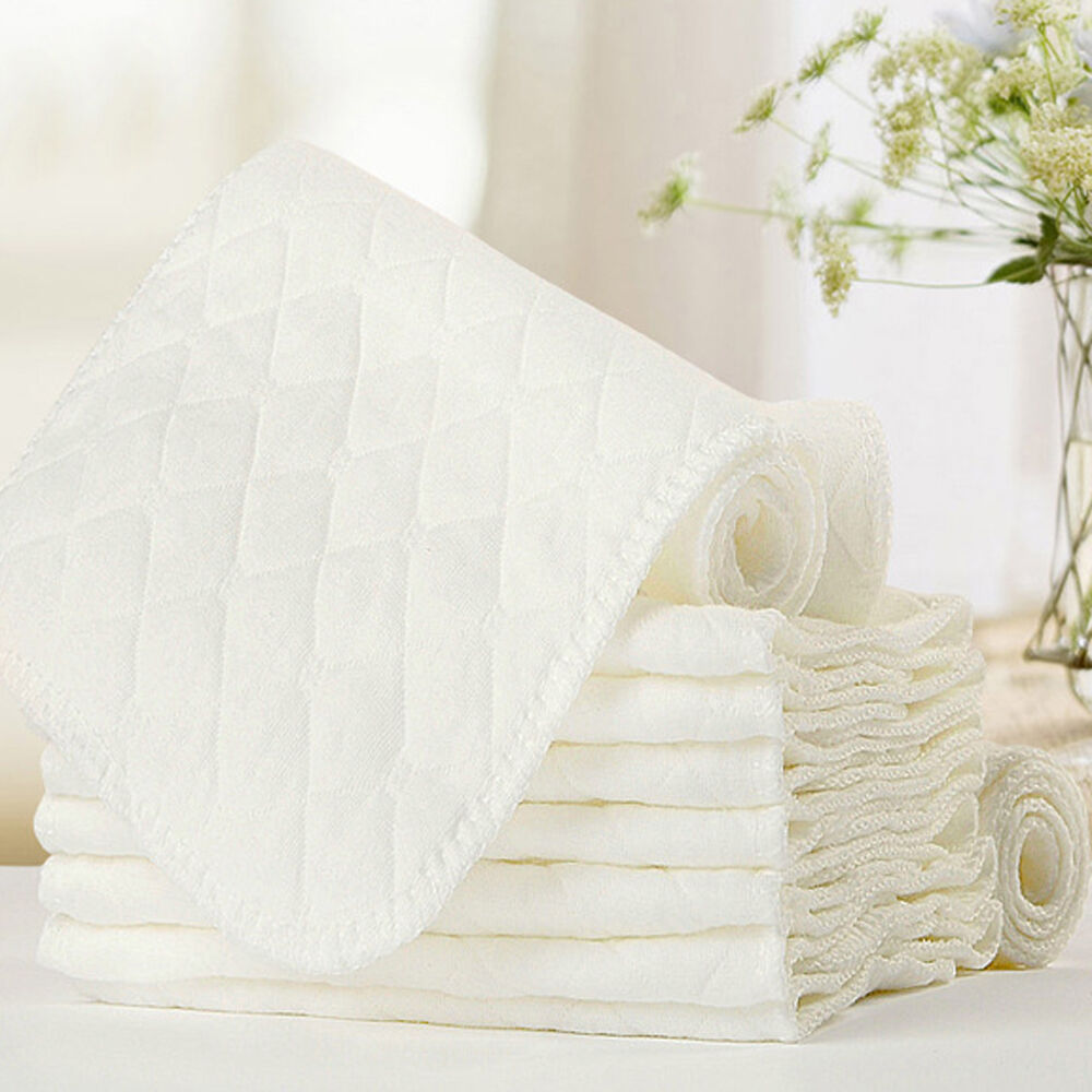 1/2PCS Reusable Baby Cloth Diaper Nappy Liners insert 3 Layers Cotton comfortble 2