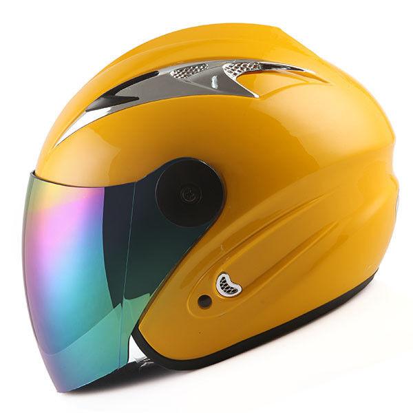 Motorcycle Scooter Bike Open Face Helmet Black Blue Green Orange Red Pink Yellow