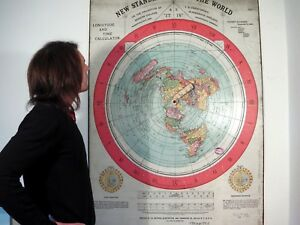 GIANT FLAT EARTH POSTER PRINT, Gleasons New Standard Map Of The