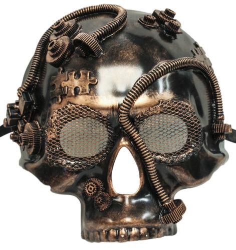 Steampunk Bronze Skull Plaster Mask 75993