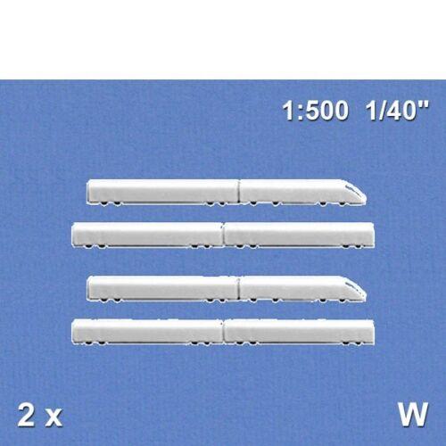 2 ICE-Züge 1:500 weiß Schulcz 03-20711 3,48€//Stück