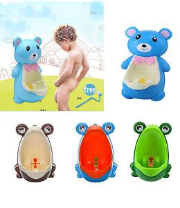Cartoon Bear Children Potty Toilet Training Urinal for Boy Pee Trainer Bathroom
