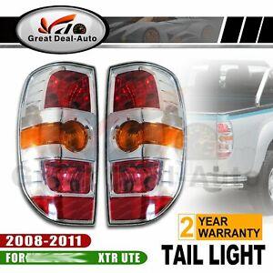 FIT-FOR-MAZDA-BT50-XTR-UTE-PICKUP-TAIL-LIGHTS-PAIR-2008-2011-L-amp-R-CHROME-NEW