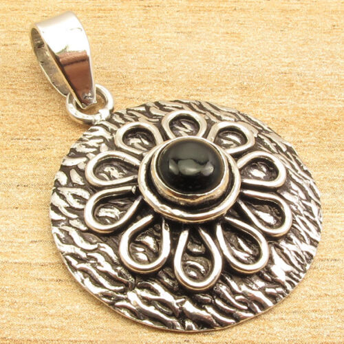 Vintage Style Discount Jewelry 925 Silver ETHNIC Oxidized Pendant