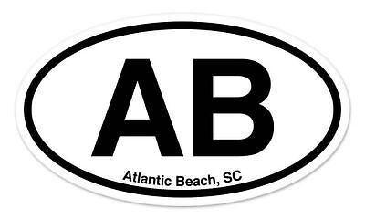 "CHS Charleston SC South Carolina Oval car window bumper sticker decal 5/"" x 3/"""
