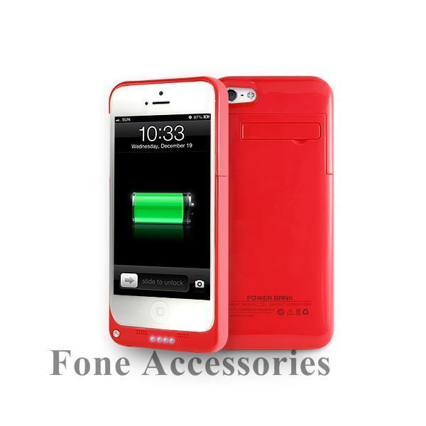 Portable iPhone 5 5S 5C 2200mAh Juice Battery Rechargeable Power External Case