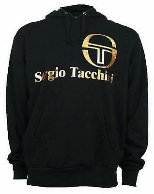 Sergio Tacchini Men's Classic Hooded Hoodie Hoody Sweatshirt Top black/gold