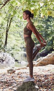 NEW Free People Movement Seamless Yoga Raider Legging Olive Sz XS//S-M//L $96.87
