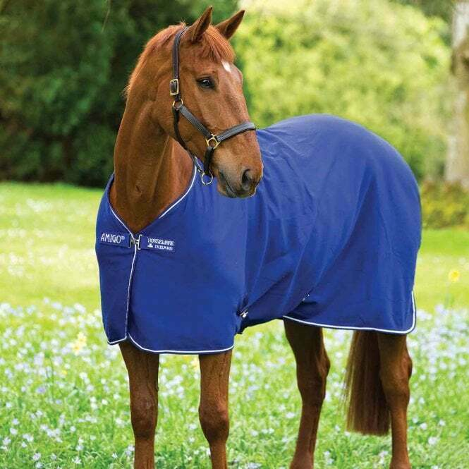 Horseware Cooler Travel Show Horse Blanket Atlantic  bluee And White 72  6'  the latest models