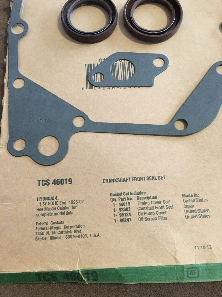 Fel-Pro Tcs 46019-1 Crankshaft Front Seal Set