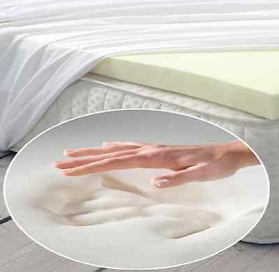 """Soft Memory Foam Topper Materasso Tagliato A Qualsiasi Dimensione 1"""" A 6"""" O Più- Elevato Standard Di Qualità E Igiene"""