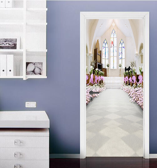 3D Kirche Weiß 87 Tür Wandmalerei Wandaufkleber Aufkleber AJ WALLPAPER DE Kyra