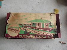Vintage 1950s O Scale Plasticville Passenger Station Kit in Box RS-8