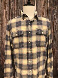 RRL-Ralph-Lauren-Mens-Plaid-Flannel-Shirt-Size-Large