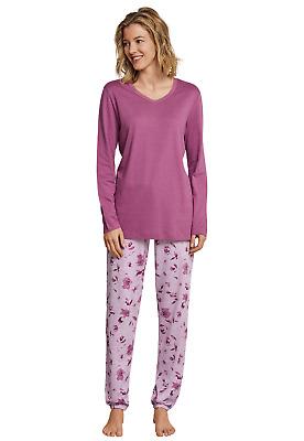 UNCOVER by SCHIESSER  Damen Schlafanzugshose Shirt langarm pink NEU *UVP 46,90