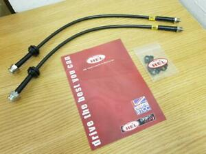 Models 2003+ HEL Front Braided Brake Hose Kit for Vauxhall Opel Meriva 1.6