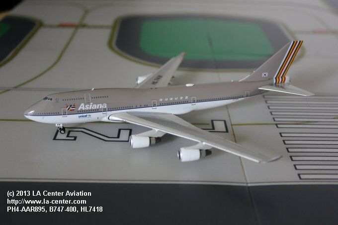 Phoenix - modell asiana airlines boeing 747 - 400 alte farbe ein diecast modell 1 400