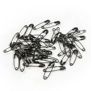50pcs-Black-Iron-Safety-Pins-19mm-Patchwork-Quilting-Badge-DIY-Sewing-Craft