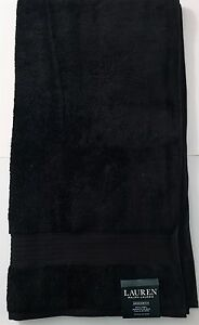 NEW-RALPH-LAUREN-GREENWICH-BLACK-100-COTTON-LARGE-BATH-BEACH-TOWEL-30-034-x-56-034