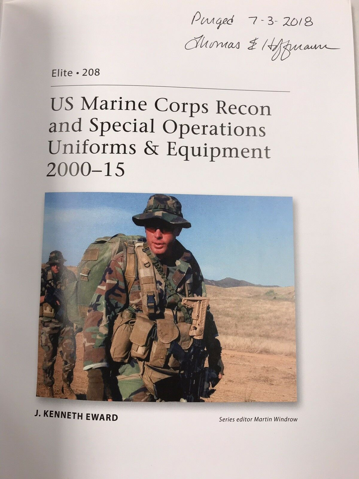 Elite: US Marine Corps Recon and Special Operations Uniforms and Equipment,  2000-15 208 by J  Kenneth Eward (2016, Paperback)